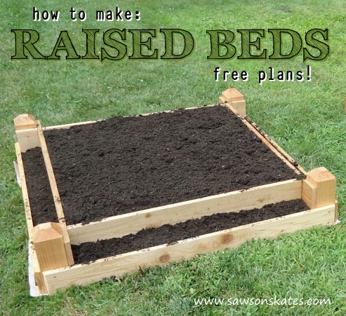 How to make: Raised Garden Beds - FREE DIY Plans! | Saws ...
