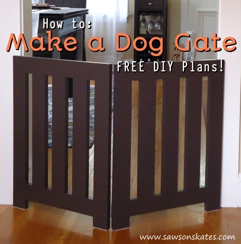 How To Make A Dog Gate Free Diy Plans Saws On Skates
