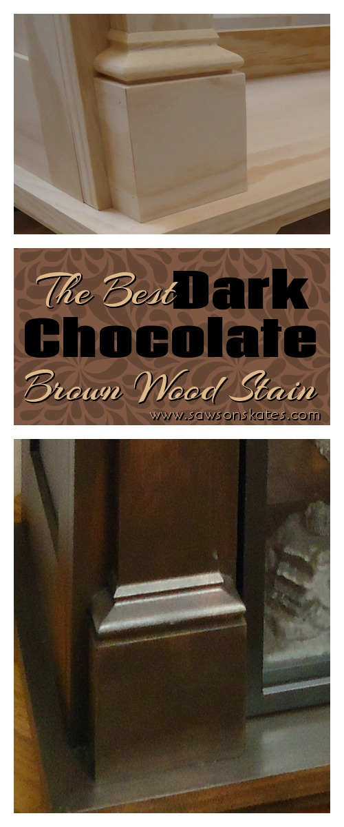 how to the best dark chocolate brown wood stain saws on skates. Black Bedroom Furniture Sets. Home Design Ideas